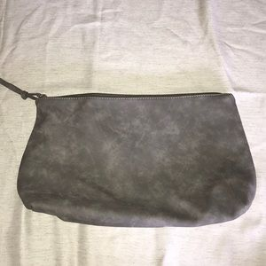 Gray Distressed Suede Bag